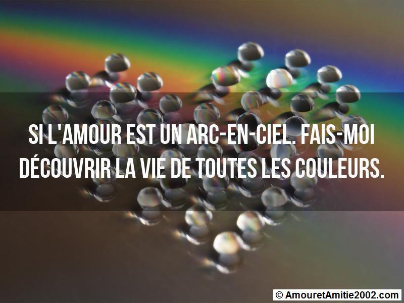 Sms Amour Si Lamour Est Un Arc En Ciel