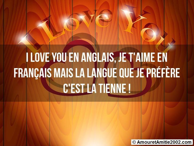 Sms Amour I Love You En Anglais Je Taime En Français