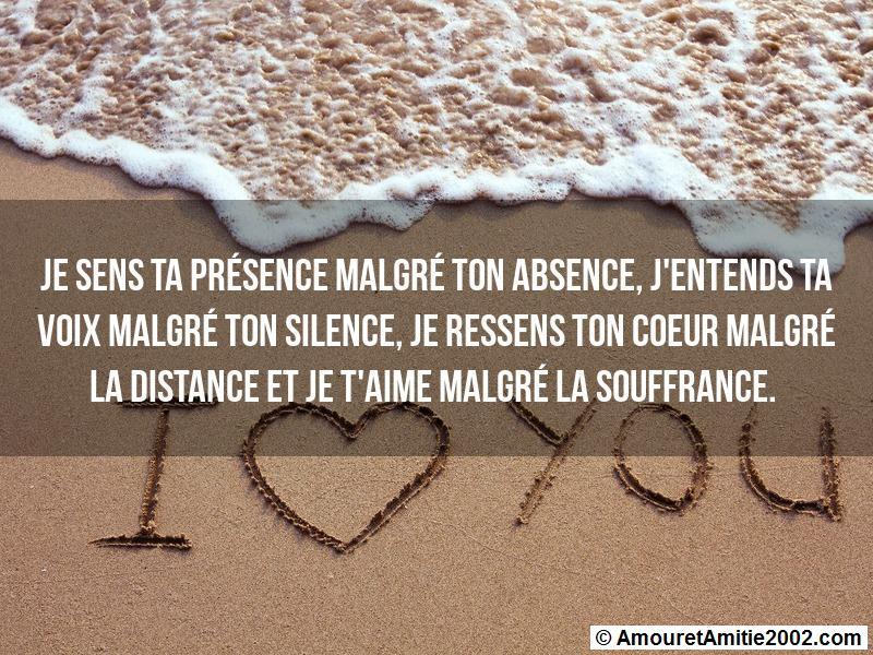 Sms Amour Je Sens Ta Présence Malgré Ton Absence