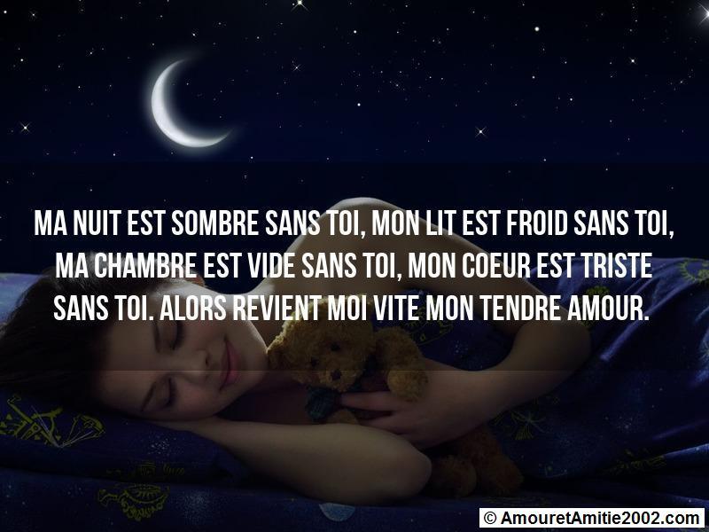 Sms Amour Ma Nuit Est Sombre Sans Toi