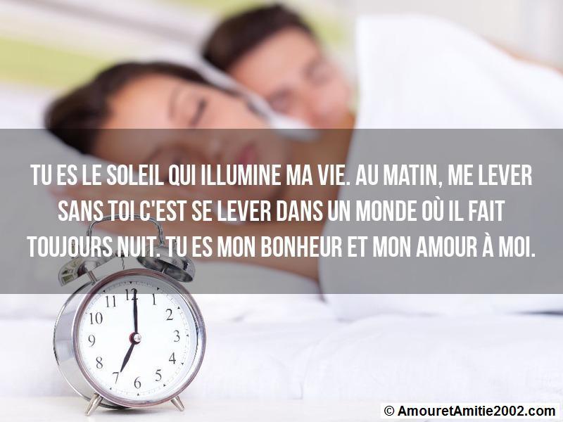 Amour message matin Message Mignon