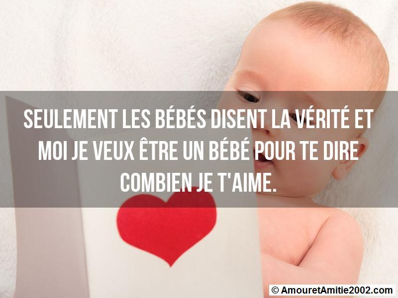 Sms Amour Seulement Les Bébés Disent La Vérité
