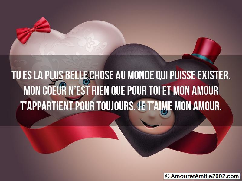 Sms Amour Tu Es La Plus Belle Chose Au Monde Qui Puisse