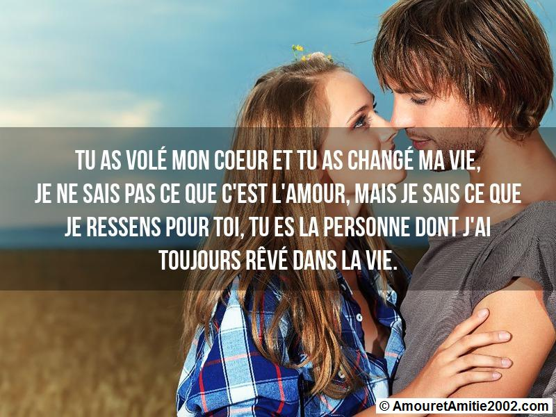 Sms Amour Tu As Volé Mon Coeur