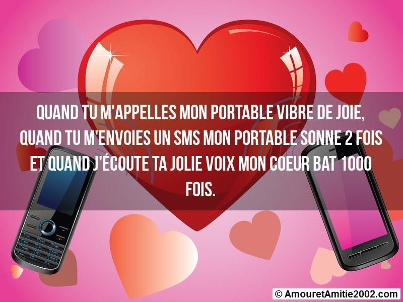 Sms Amour Quand Tu Mappelles Mon Portable Vibre De Joie
