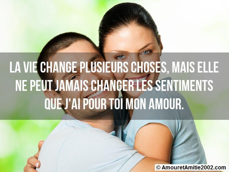 Sms Amour La Vie Change Plusieurs Choses